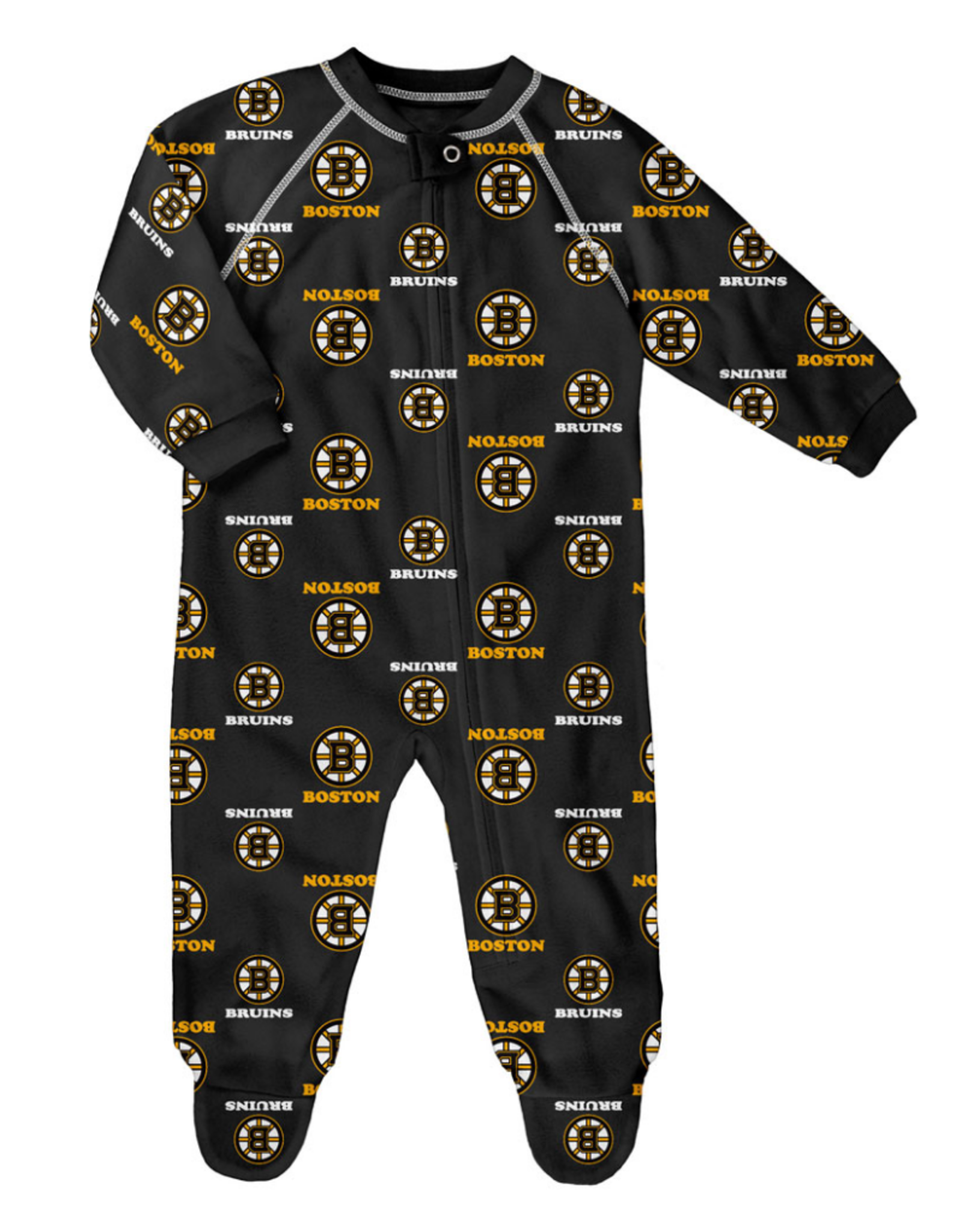 NHL Child Raglan Zip Up Coverall Onesie Bruins