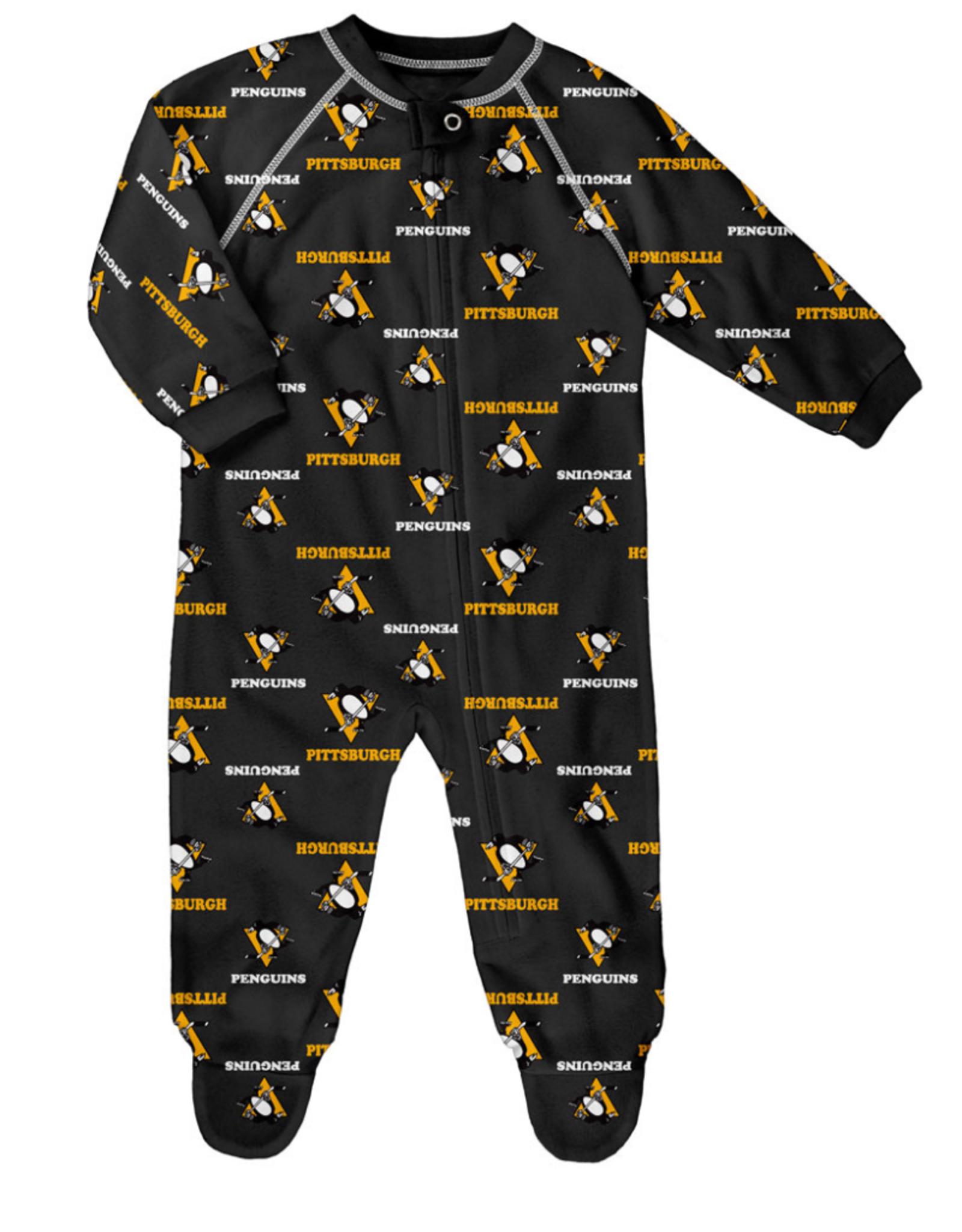 NHL Child Raglan Zip Up Coverall Onesie Penguins
