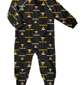 NHL Child Raglan Zip Up Coverall Onesie Penguins