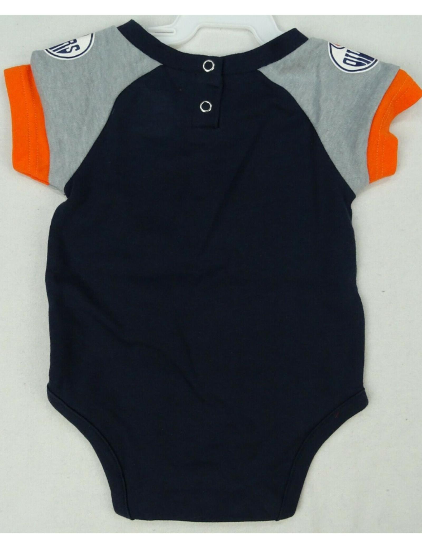 NHL Infant Blocker Diaper Shirt Bib and Booties set Edmonton Oilers