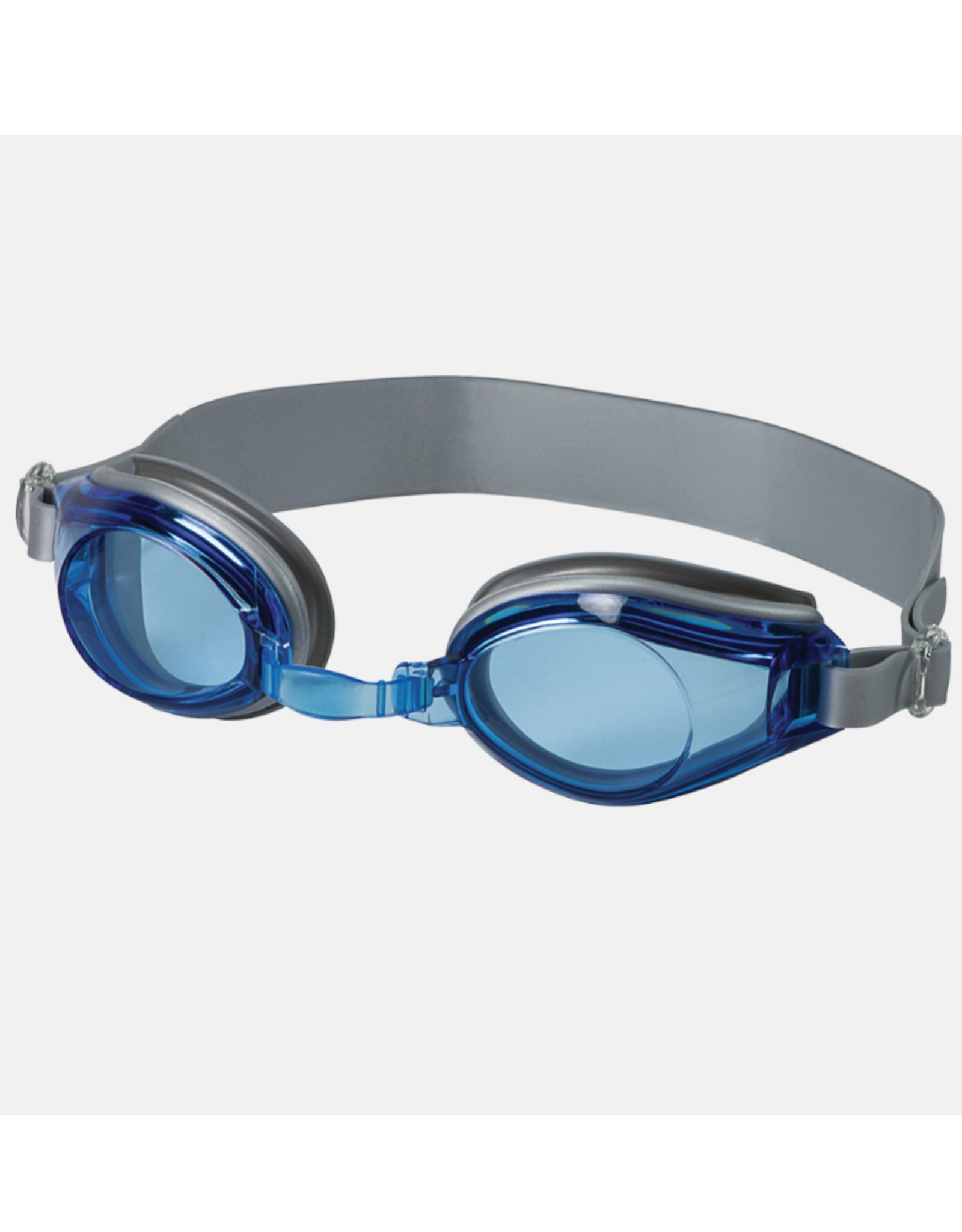 Leader Adult Castaway Swim Goggles Blue/Silver