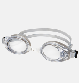 Leader Adult Relay Swim Goggles Clear/Silver