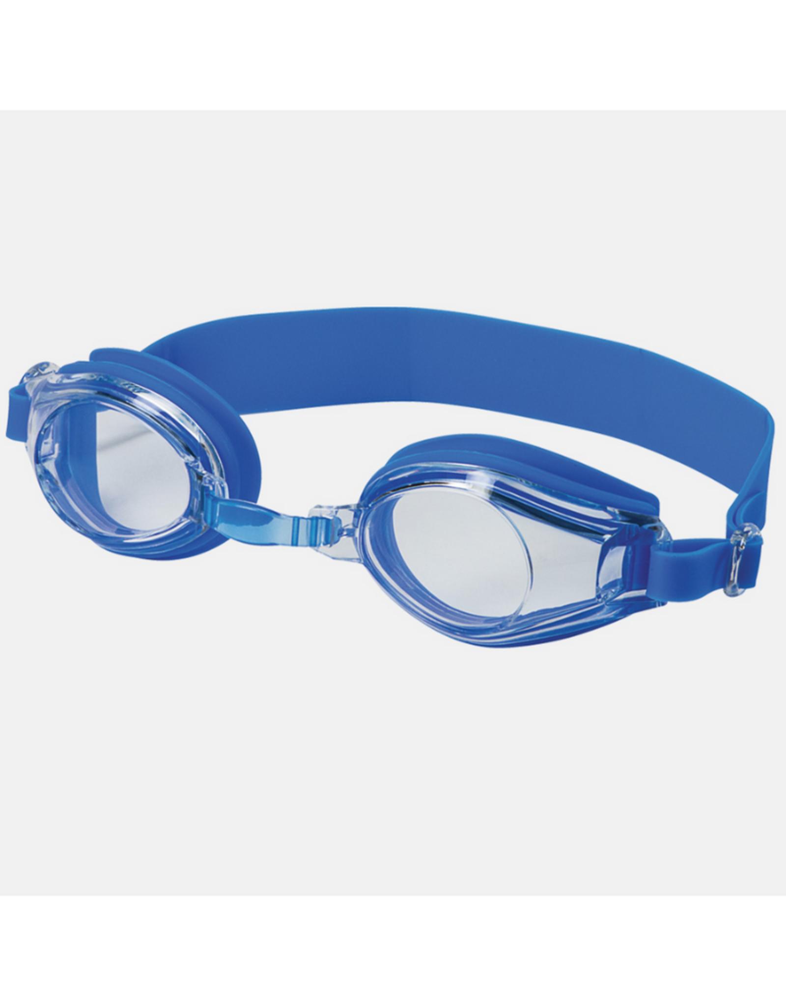 Leader Adult Castaway Swim Goggles Clear/Blue