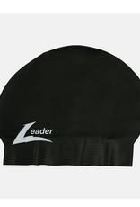 Leader Adult Latex Swim Cap Black