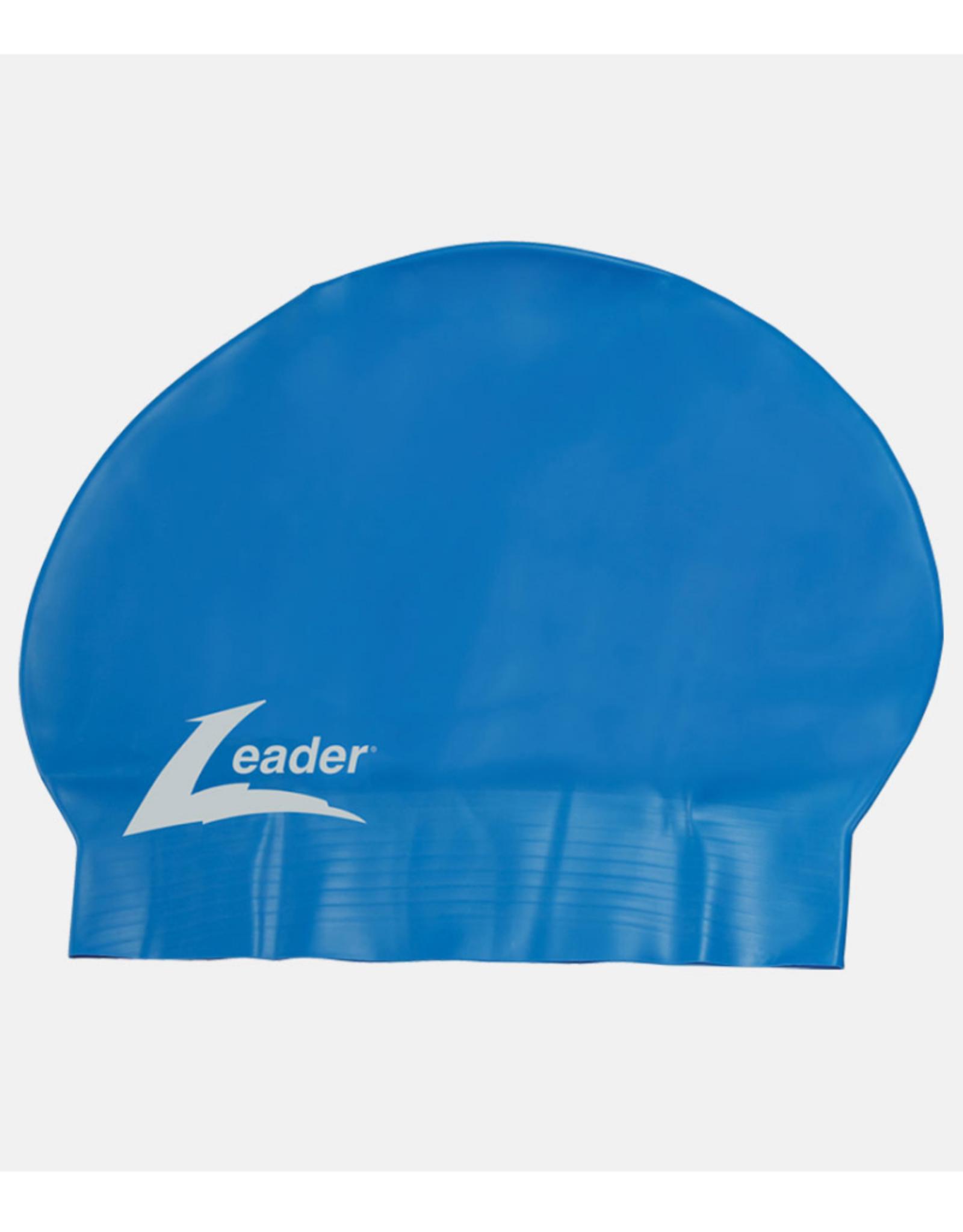 Leader Adult Latex Swim Cap Blue