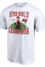 Fanatics Fanatics Super Bowl LV Champions Tom Brady Caricature T-Shirt Tampa Bay Buccaneers White