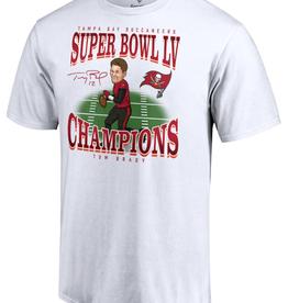 Fanatics Fanatics Super Bowl LV Champions Brady Caricature T-Shirt Buccaneers White