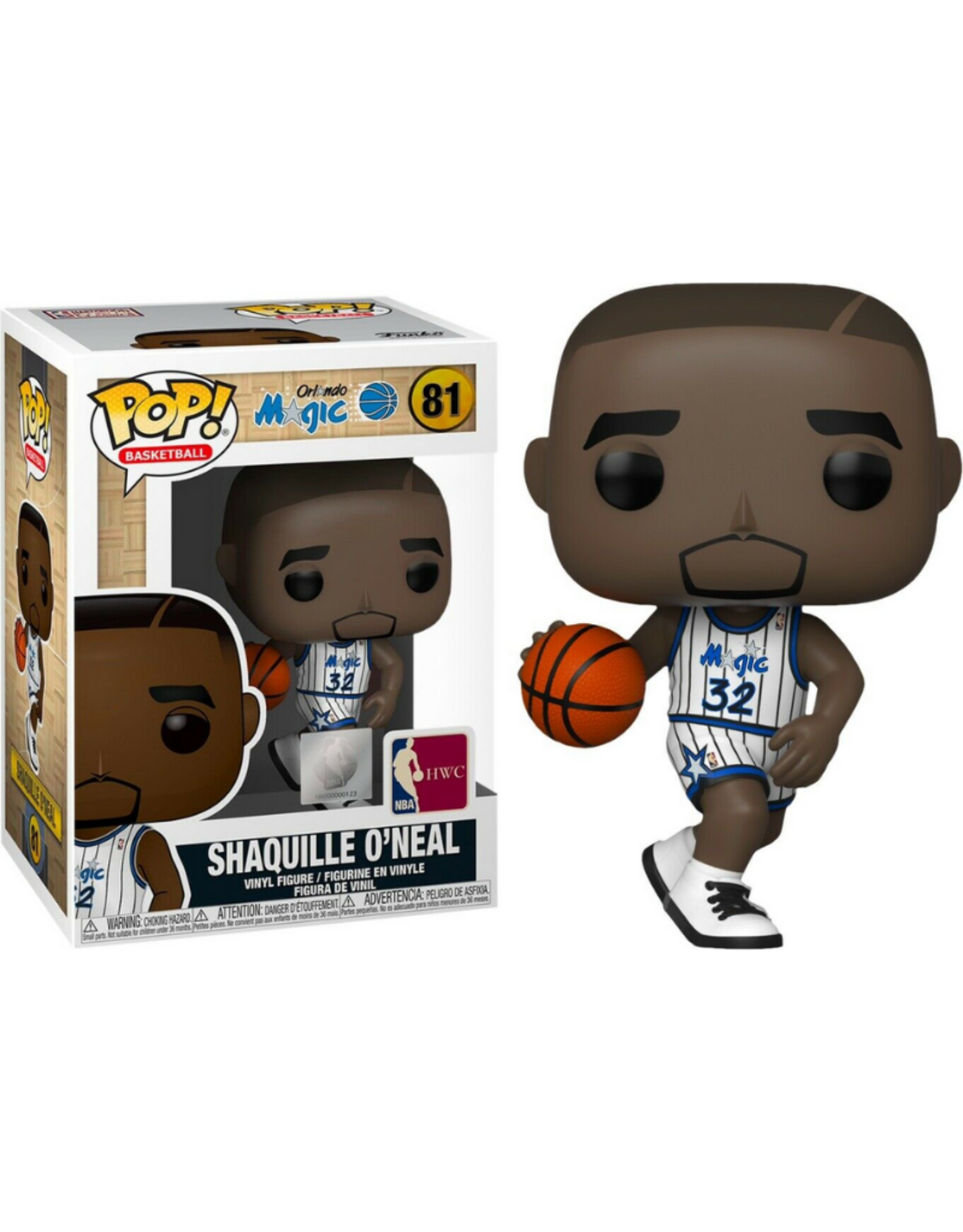 Funko POP! Figure Orlando Magic Shaquille O'Neal White