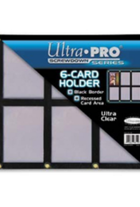 Ultra Pro 6 Card Holder Screwdown Black Border