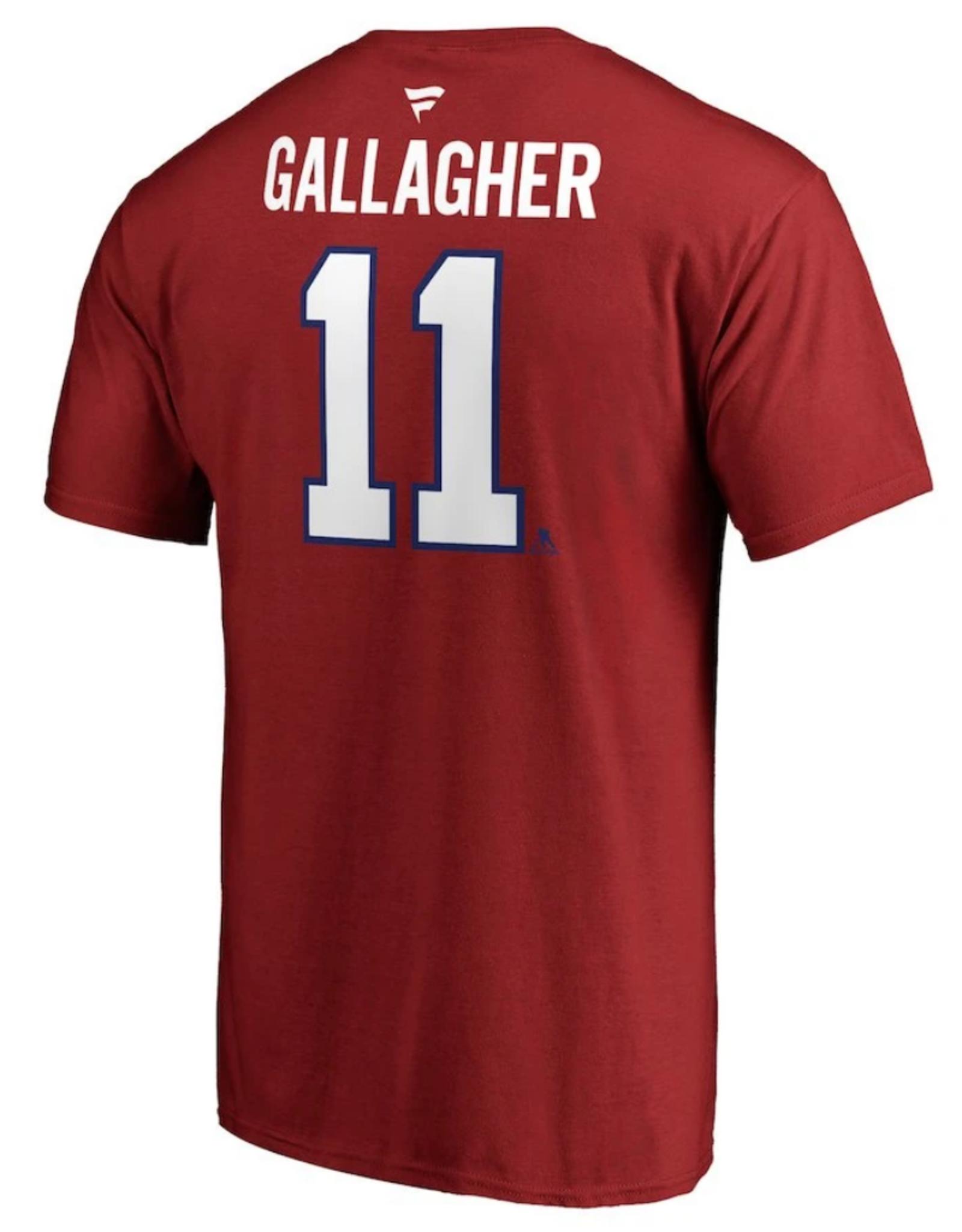 Fanatics Fanatics Men's Stack T-Shirt Gallagher #11 Montreal Canadiens Red