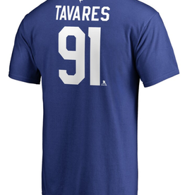 Fanatics Fanatics Men's Stack T-Shirt Tavares #91 Toronto Maple Leafs Blue