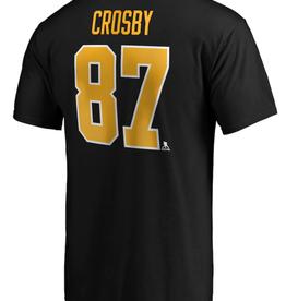 Fanatics Fanatics Men's Stack T-Shirt Crosby #87 Pittsburgh Penguins Black