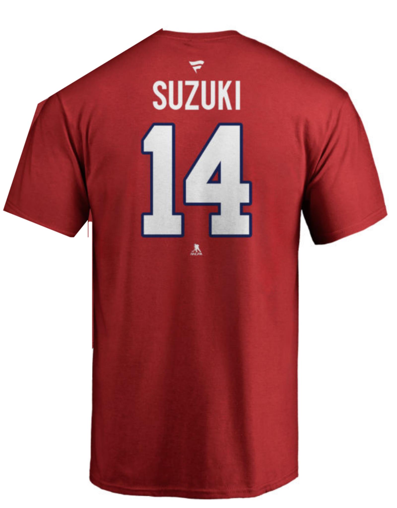 Fanatics Fanatics Men's Player T-Shirt Suzuki #14 Montreal Canadiens Red