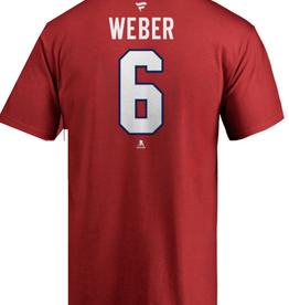 Fanatics Fanatics Men's Stack T-Shirt Weber #6 Montreal Canadiens Red