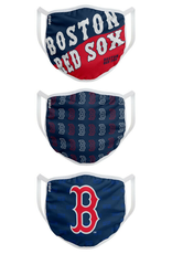 FOCO FOCO Adult Gametime Face Cover 3 Pack Boston Red Sox