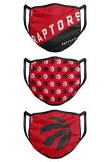 FOCO FOCO Adult Gametime  Face Cover 3 Pack Toronto Raptors