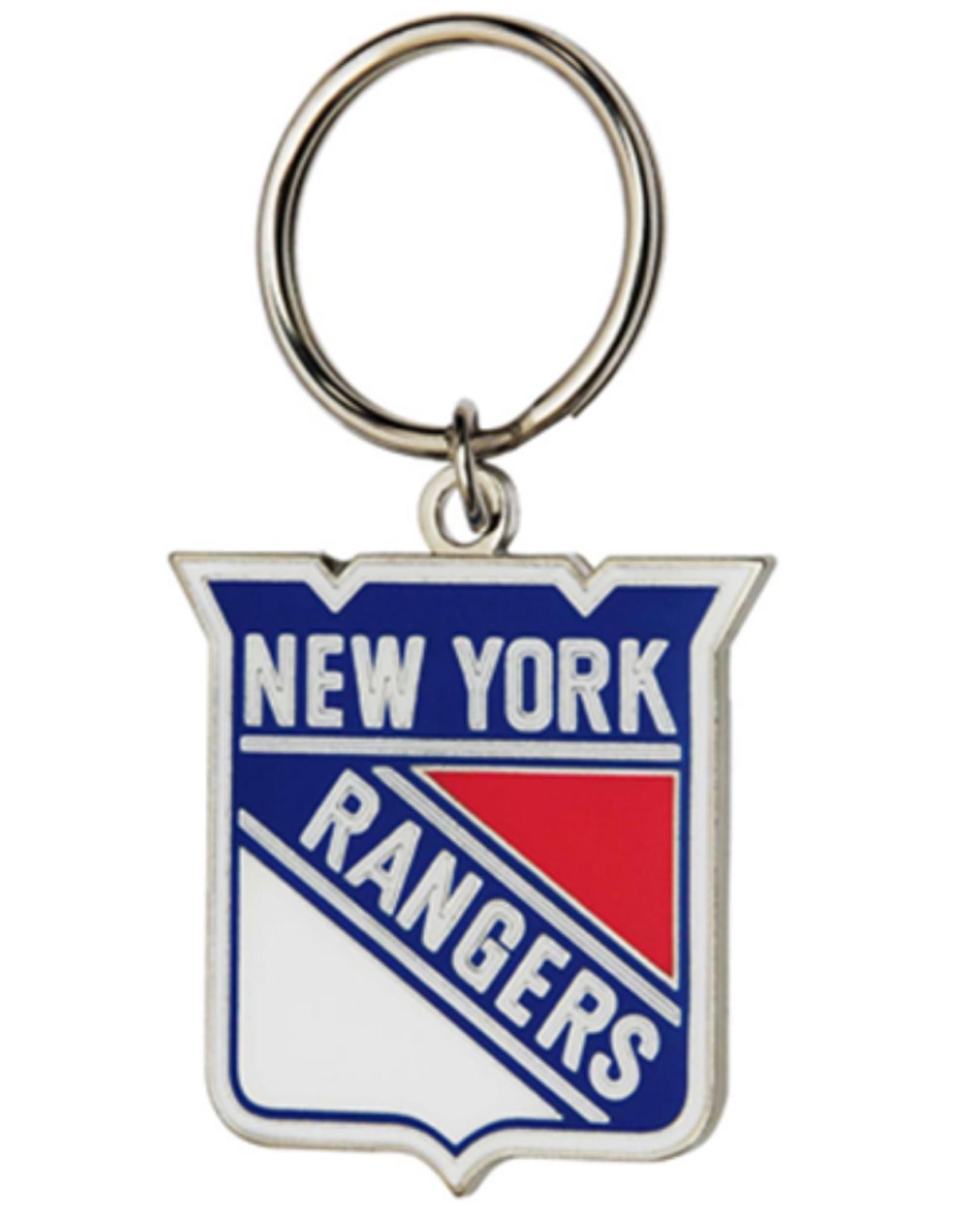 JF Sports Logo Keychain New York Rangers