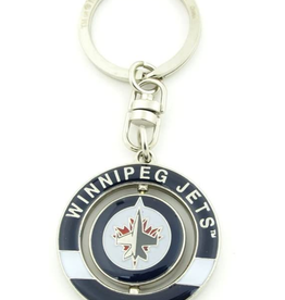JF Sports Spinner Keychain Winnipeg Jets