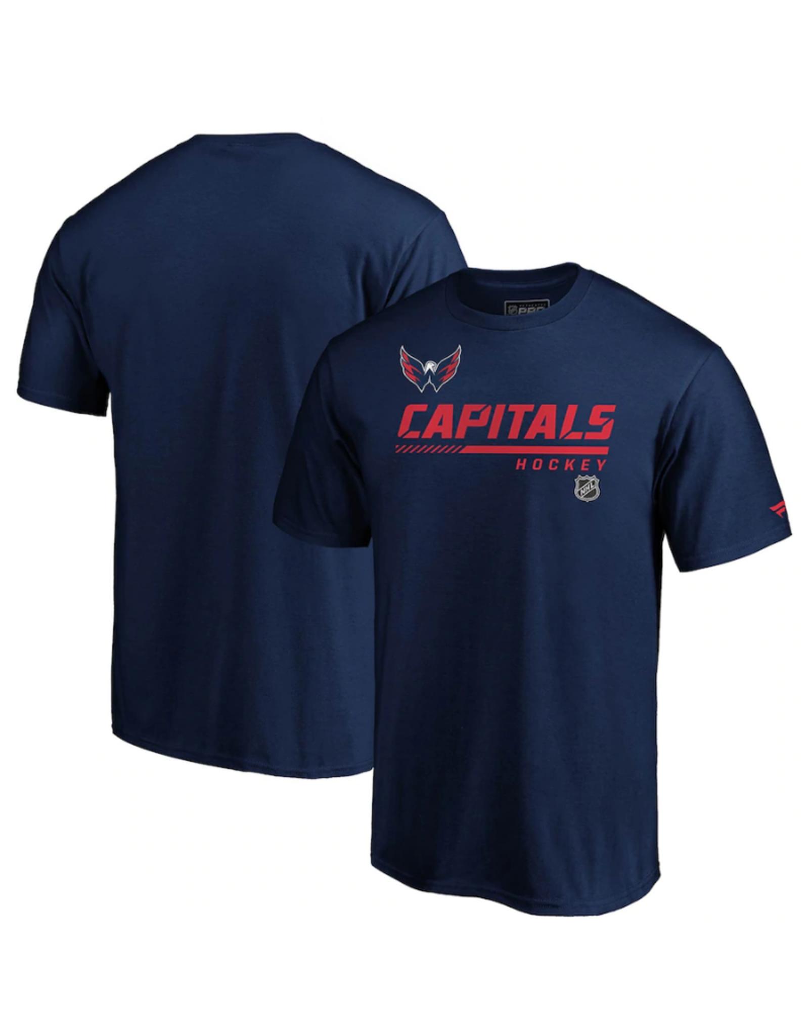 Fanatics Fanatics Men's Authentic Pro Rinkside Prime Washington Capitals T-Shirt Navy