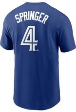 Nike Men's Player T-Shirt Springer #4 Toronto Blue Jays Royal