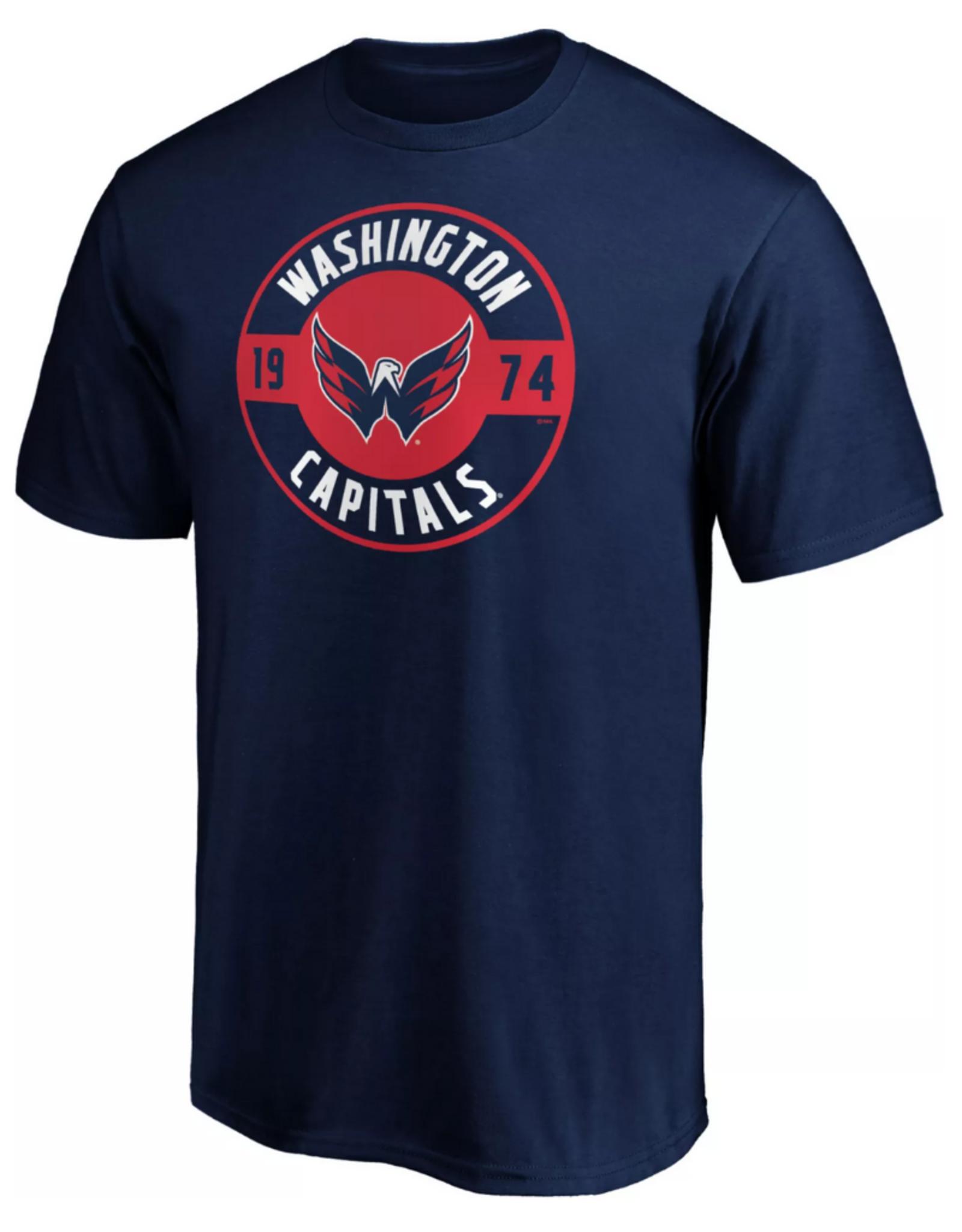 Fanatics Fanatics Men's Circle Start T-Shirt Washington Capitals Navy