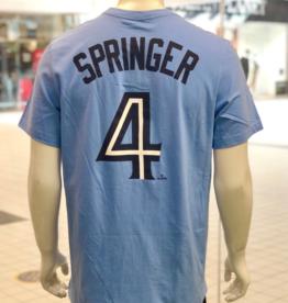 Nike Men's Player T-Shirt Springer #4 Toronto Blue Jays Blue