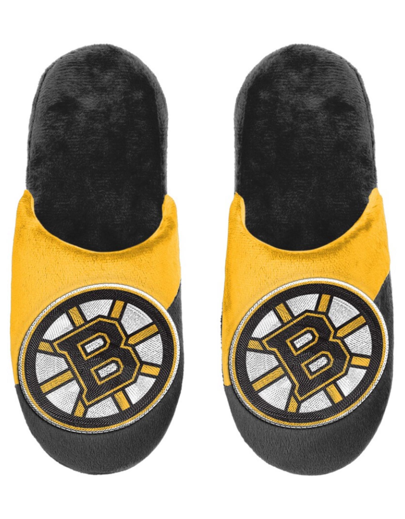 Forever Collectables FOCO Men's '20 Big Logo Slipper Boston Bruins