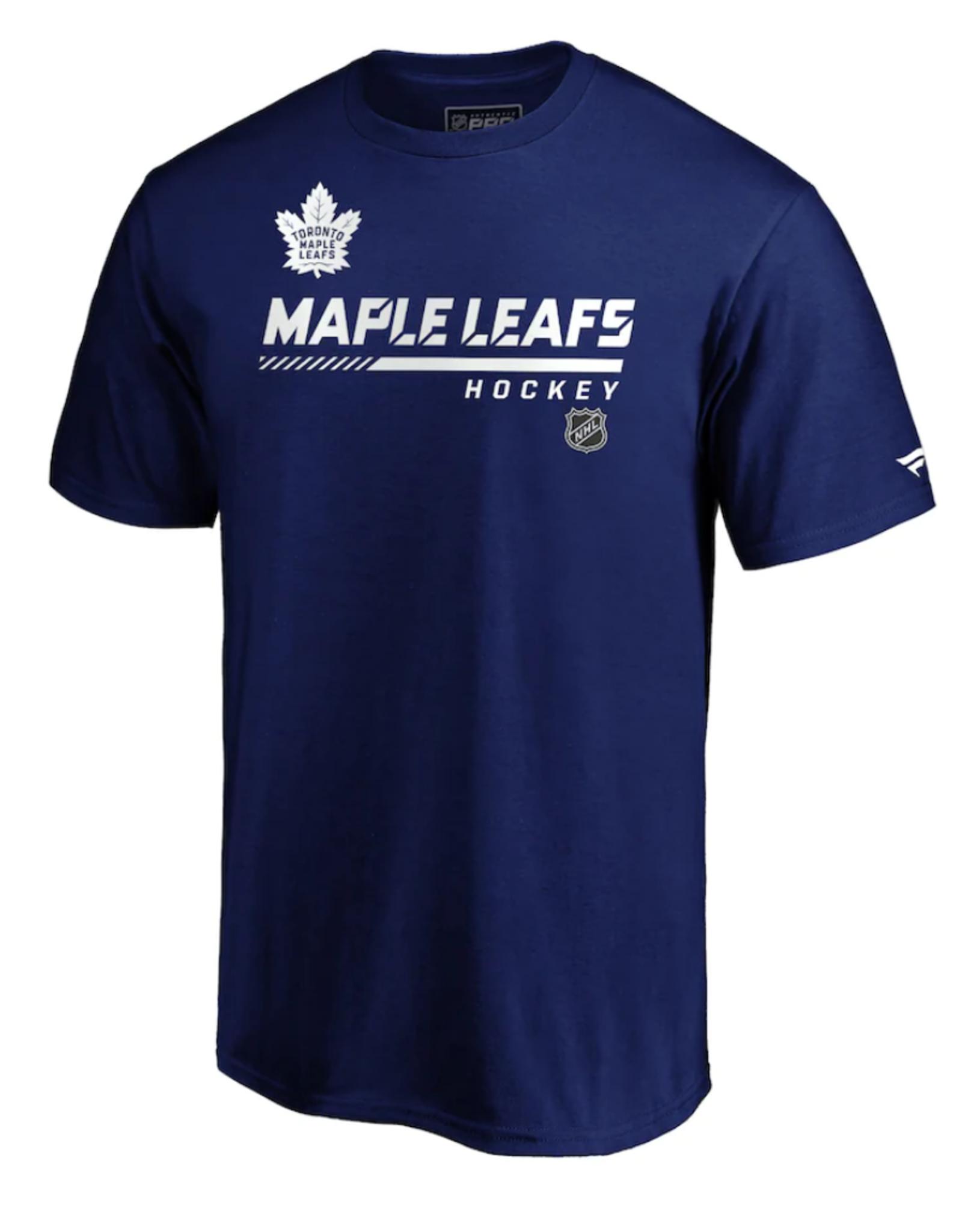 Fanatics Youth Authentic Pro T-Shirt Toronto Maple Leafs Navy