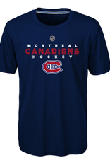 NHL Youth Wordmark T-Shirt Montreal Canadiens Navy