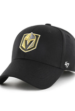 '47 Men's MVP Primary Logo Adjustable Hats Vegas Golden Knights Black