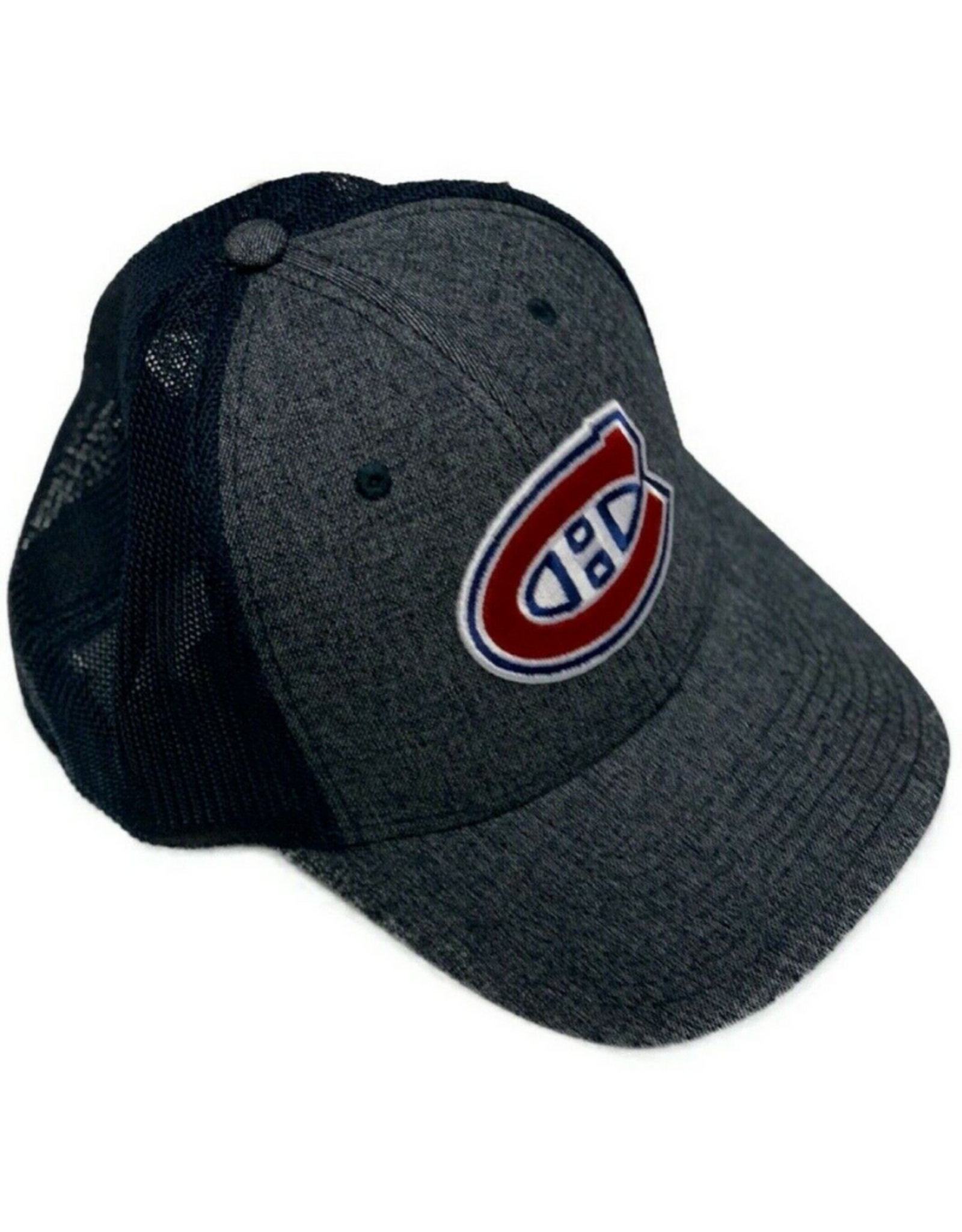 American Needle American Needle Men's Heathered Poly Stretch Hat Montreal Canadiens Navy