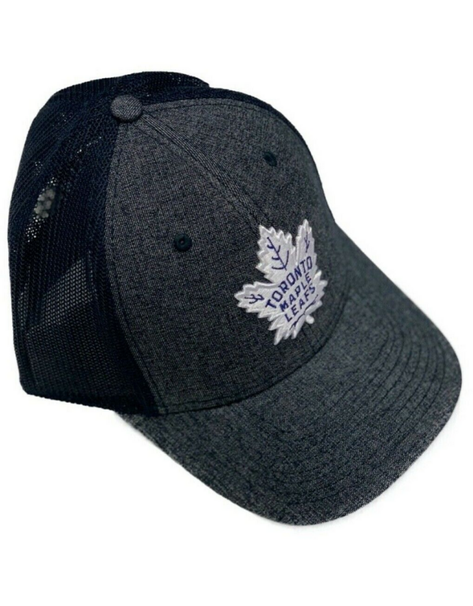 American Needle American Needle Men's Heathered Poly Stretch Hat Toronto Maple Leafs Navy