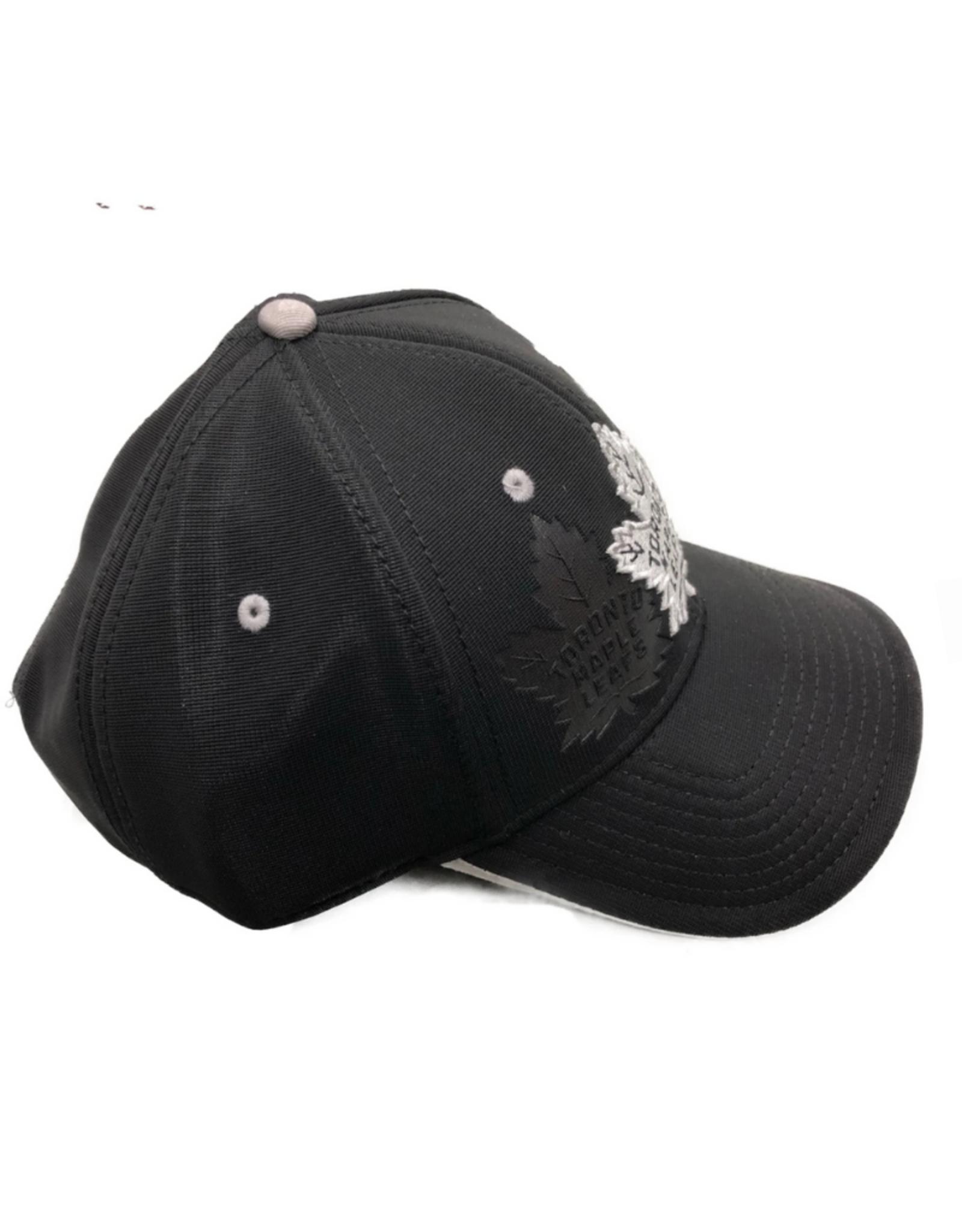 American Needle American Needle Men's Platinum DeBoss Adjustable Hat Toronto Maple Leafs Black