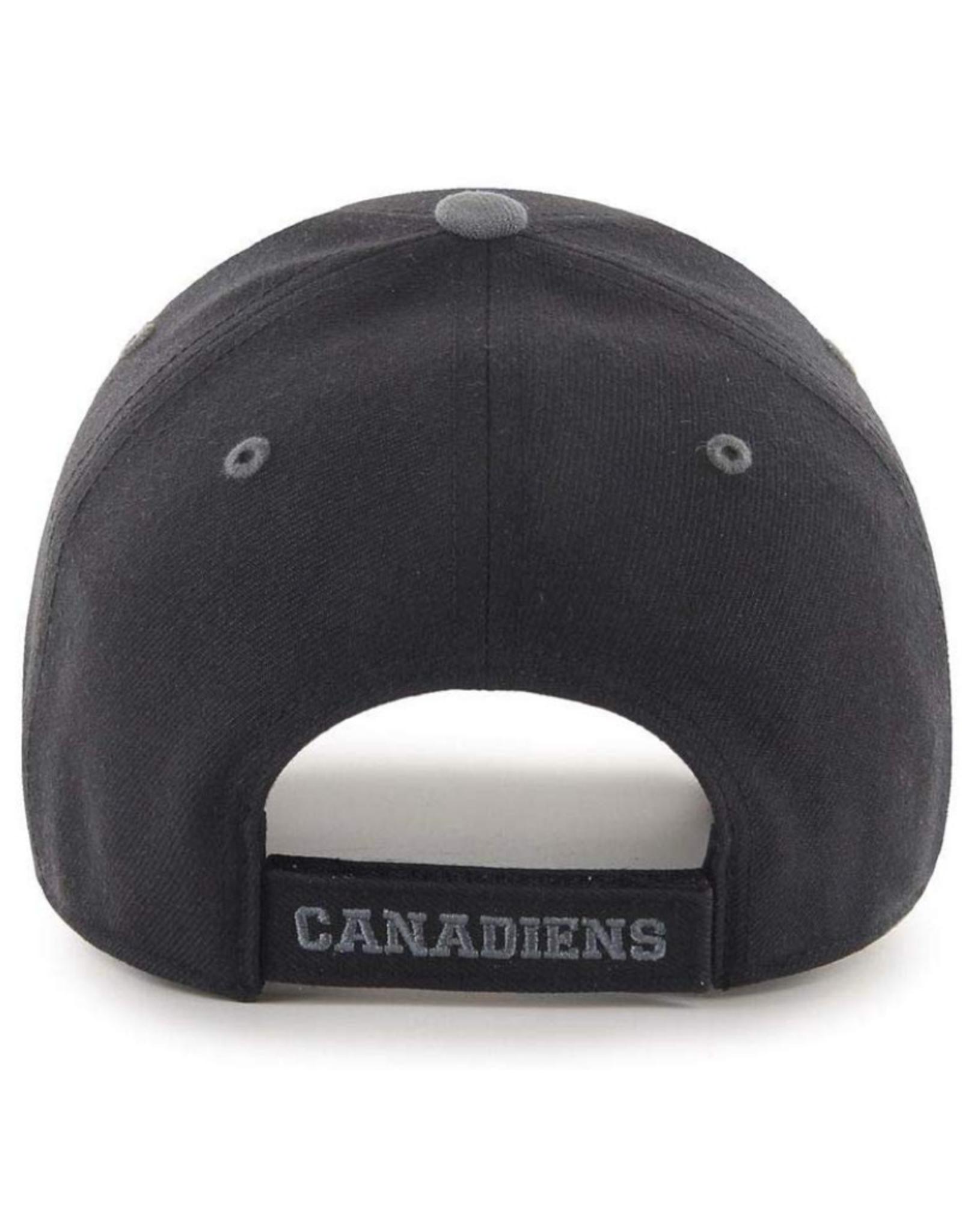 American Needle American Needle Men's Platinum DeBoss Adjustable Hat Montreal Canadiens Black