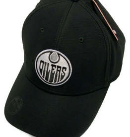 American Needle American Needle E-Boss Platinum Hat Edmonton Oilers Black