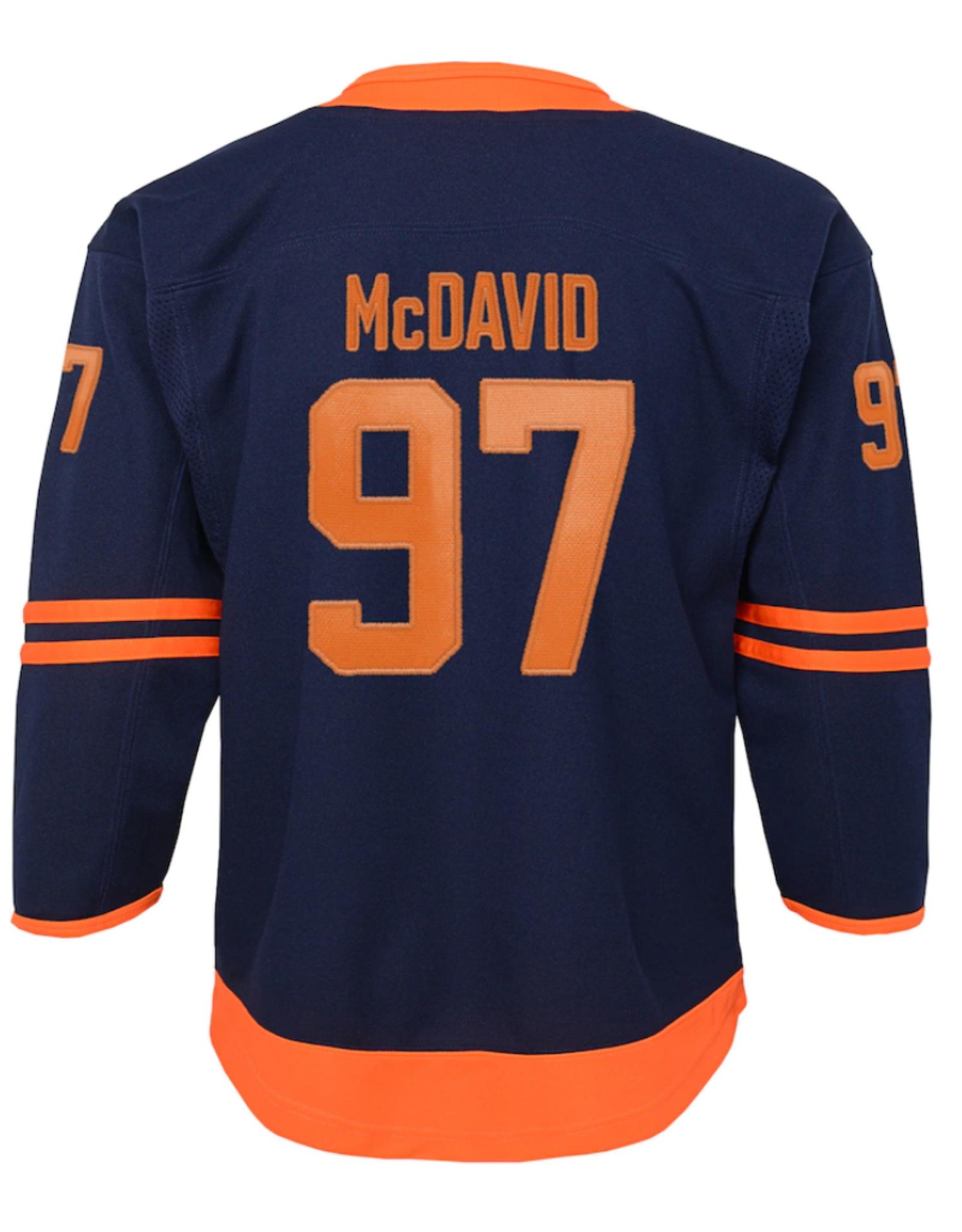 NHL Youth Premier Alternate McDavid 97 Edmonton Oilers Navy