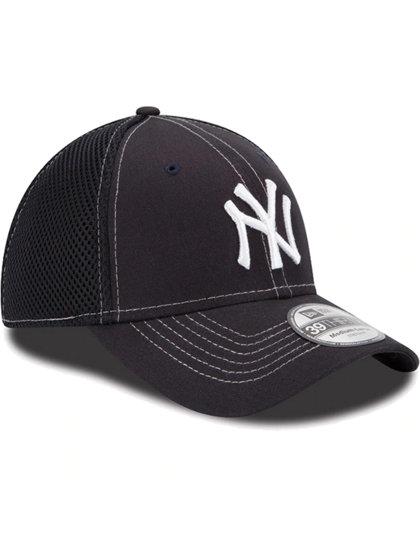 New Era Men's Neo Stretch Fit Hat New York Yankees Navy
