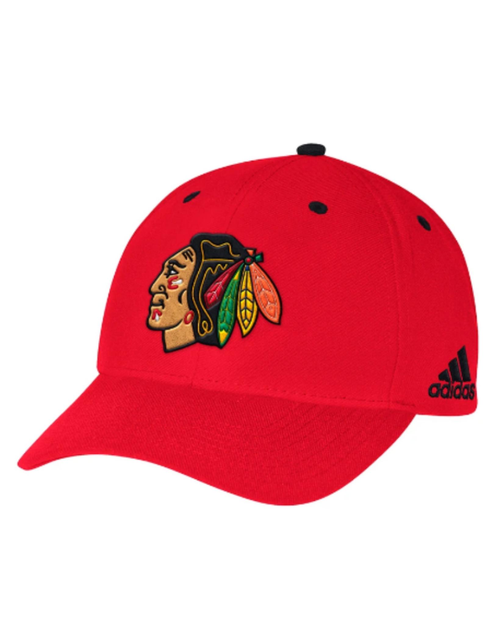 Adidas Adidas Men's Structured Snapback Hat Chicago Blackhawks Red