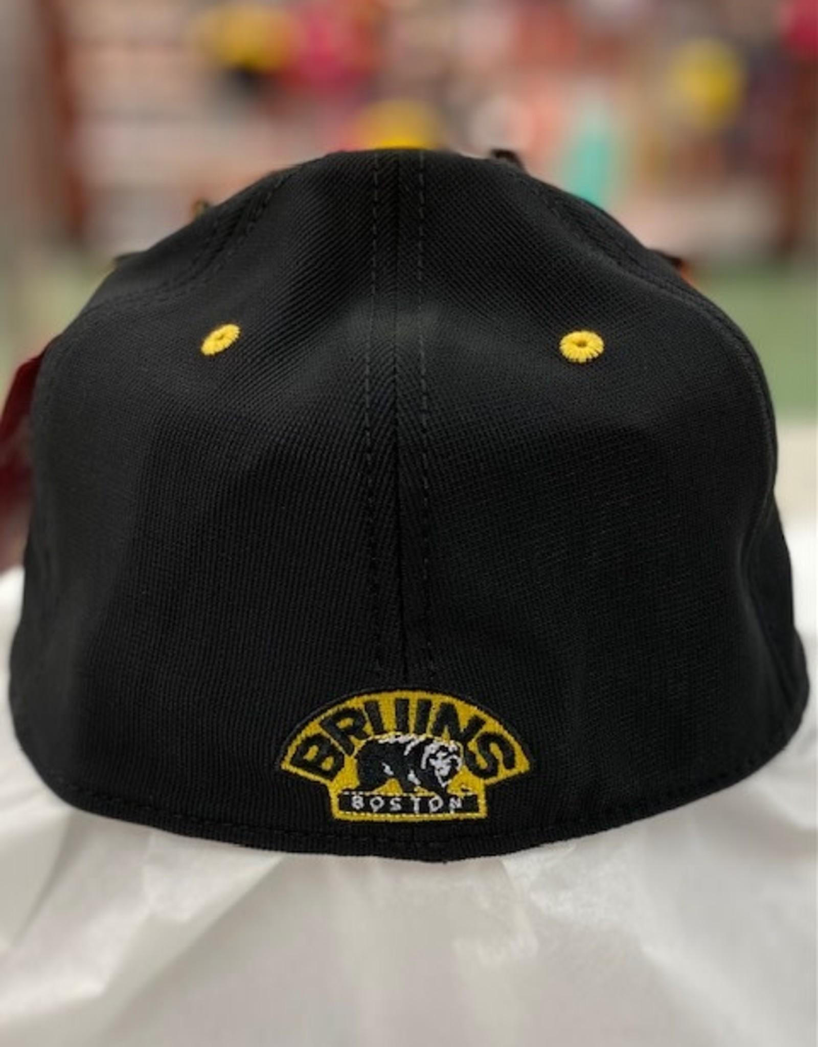 American Needle American Needle Men's E Boss Stretch Fit Hat Boston Bruins Black