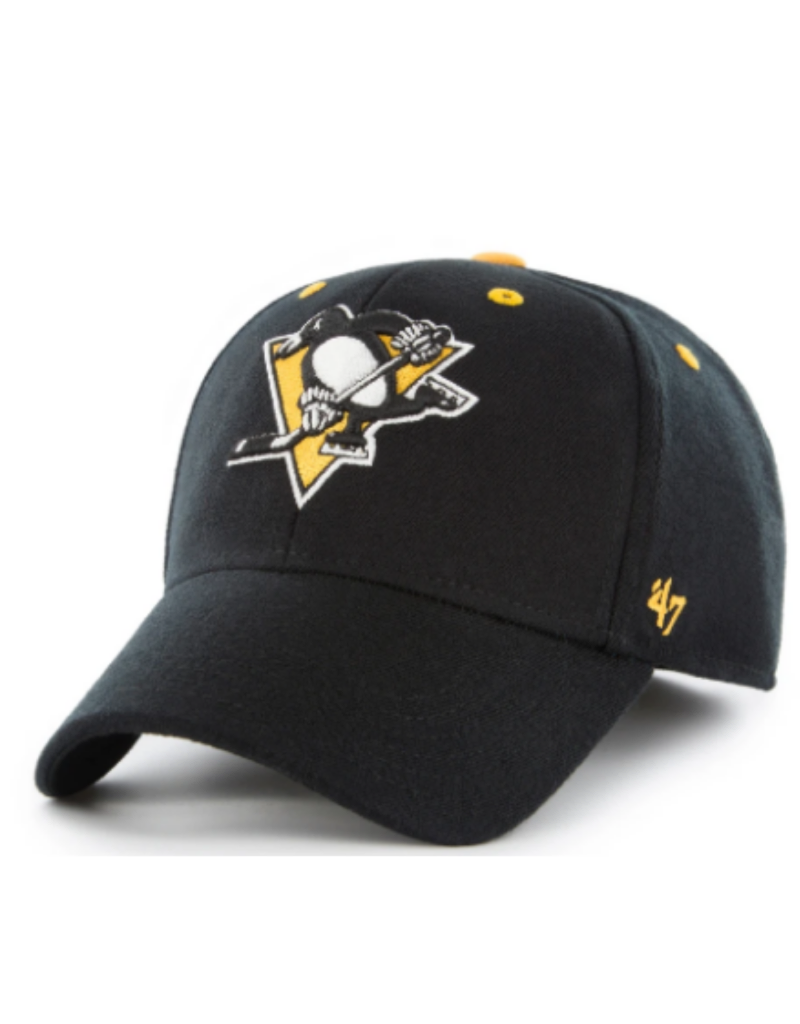 '47 Men's Kickoff Contender Stretch Fit Hat Pittsburgh Penguins Black One Size