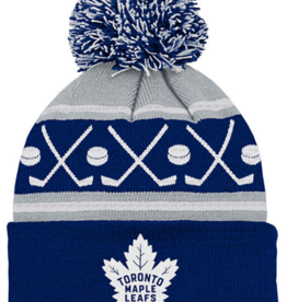 NHL Kids Faceoff Cuff Pom Knit Toronto Maple Leafs