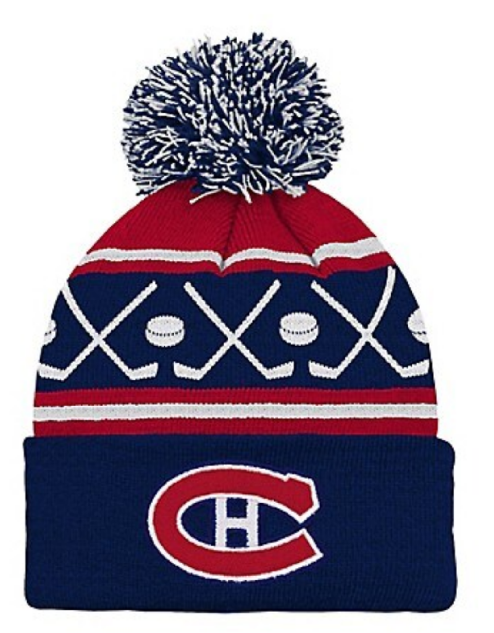 NHL Kids Faceoff Cuff Pom Knit Montreal Canadiens