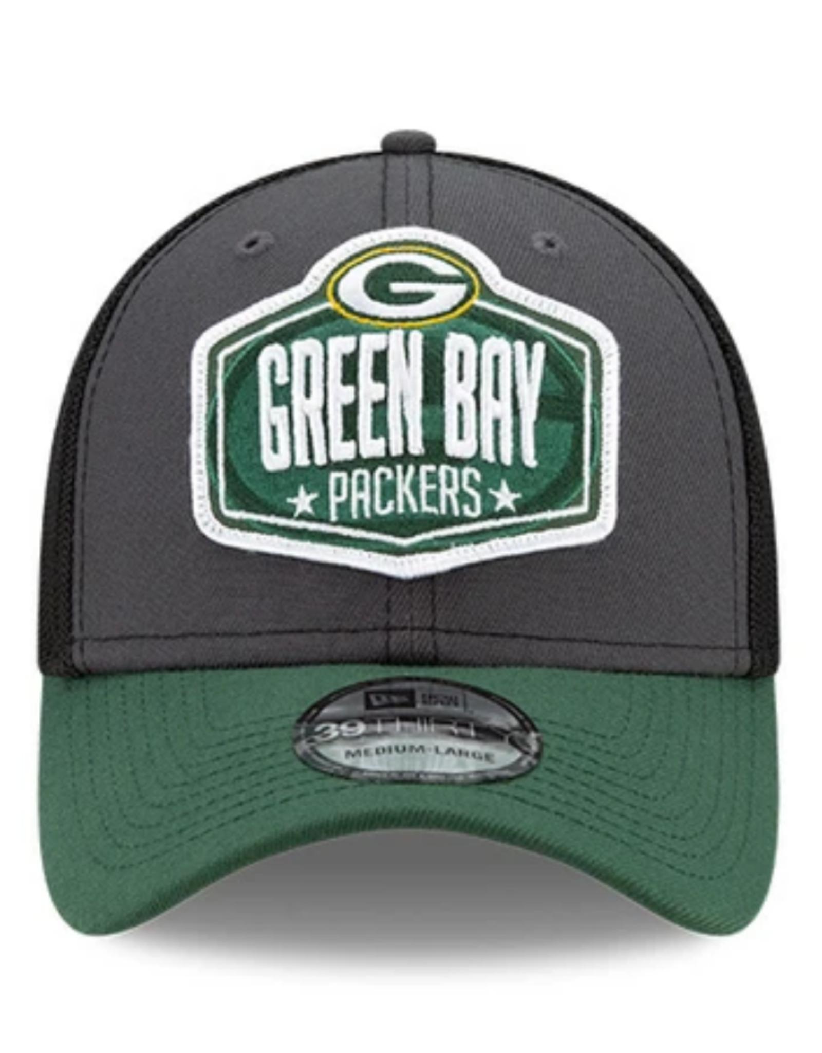 New Era Men's '21 39THIRTY NFL Draft Hat Green Bay Packers