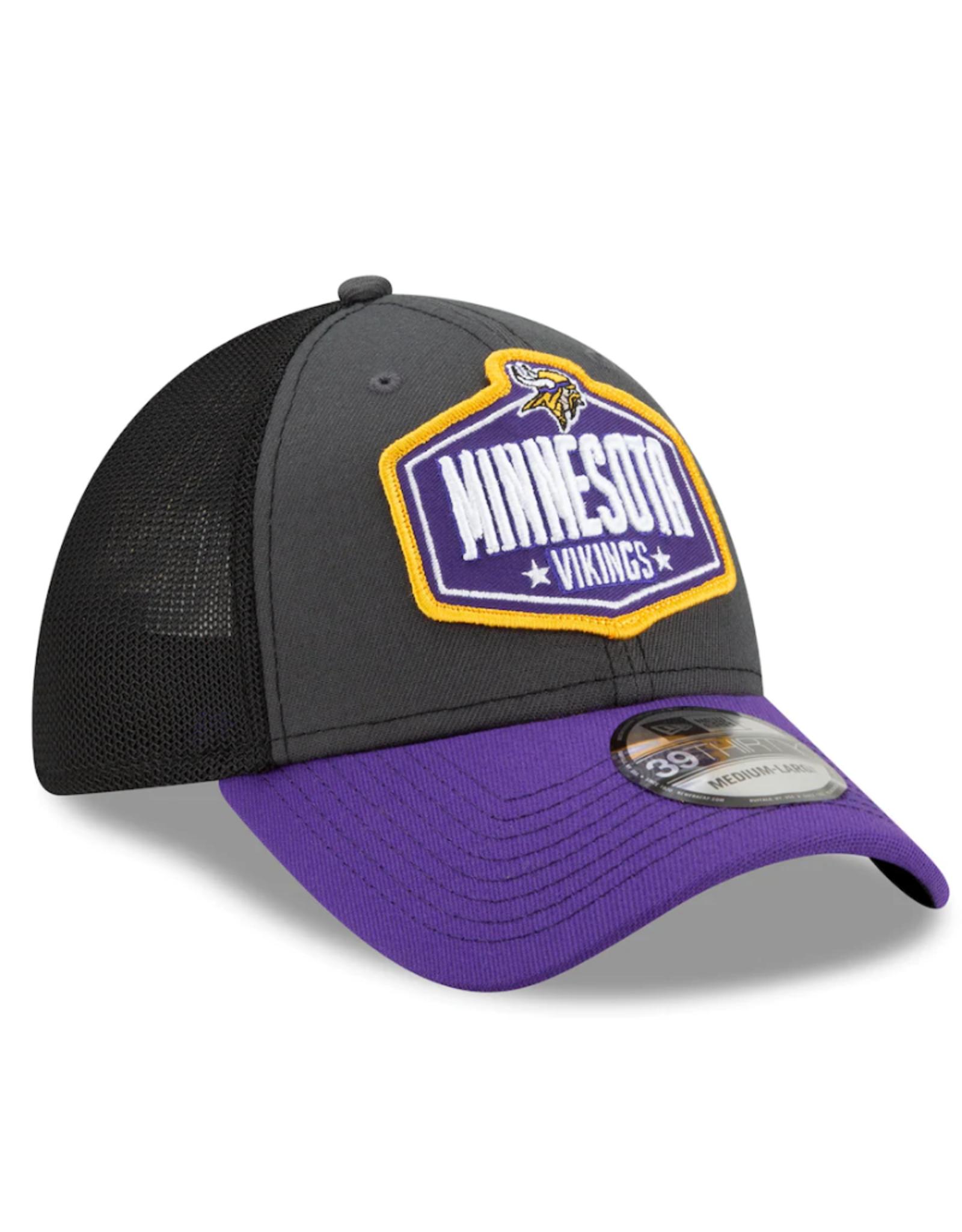 New Era Men's '21 39THIRTY NFL Draft Hat Minnesota Vikings