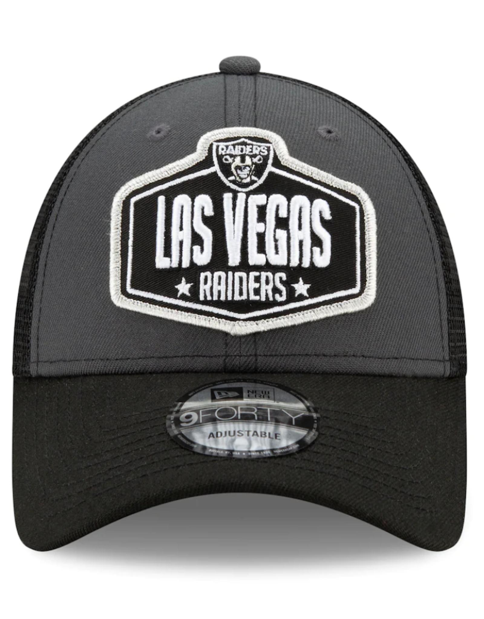New Era Men's '21 9FORTY Adjustable NFL Draft Hat Las Vegas Raiders