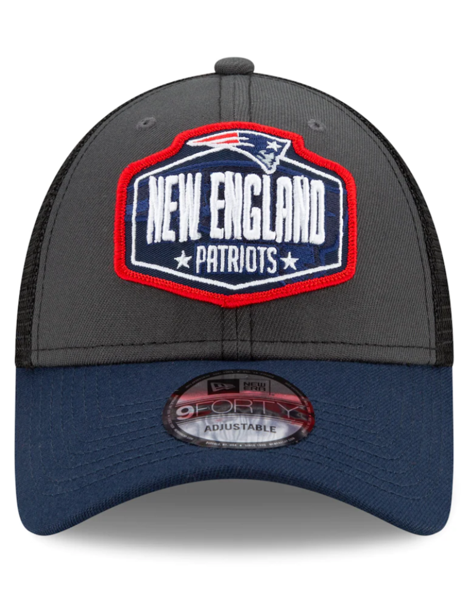 New Era Men's '21 9FORTY Adjustable NFL Draft Hat New England Patriots