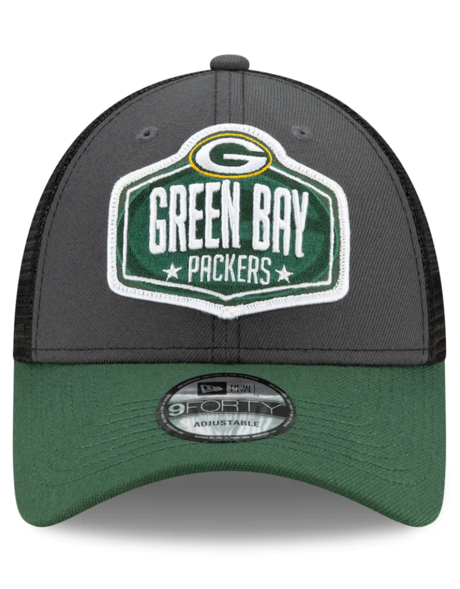New Era Men's '21 9FORTY Adjustable NFL Draft Hat Green Bay Packers