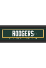 Framed Signature Nameplate Aaron Rodgers Green Bay Packers