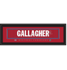 Framed Signature Nameplate Brendan Gallagher Montreal Canadiens