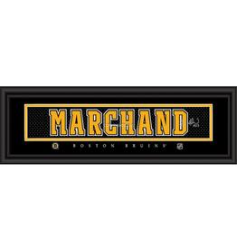 Framed Signature Nameplate Brad Marchand Boston Bruins